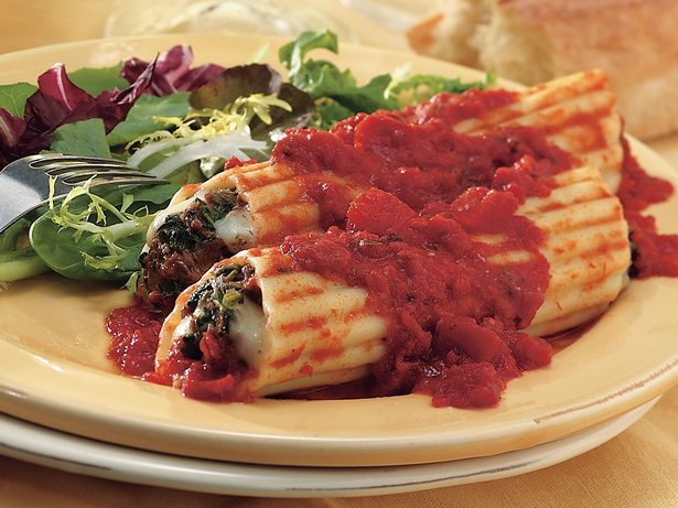 Spinach Pesto Manicotti