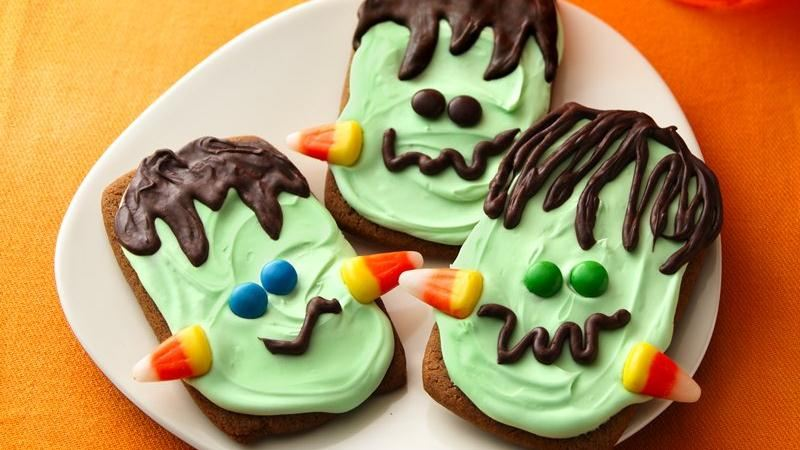 Ginger Frankenstein Cookies