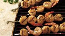 Barbecued Shrimp and Scallop Kabobs Recipe