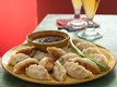 Pork Pot Stickers with Chipotle Honey Sauce