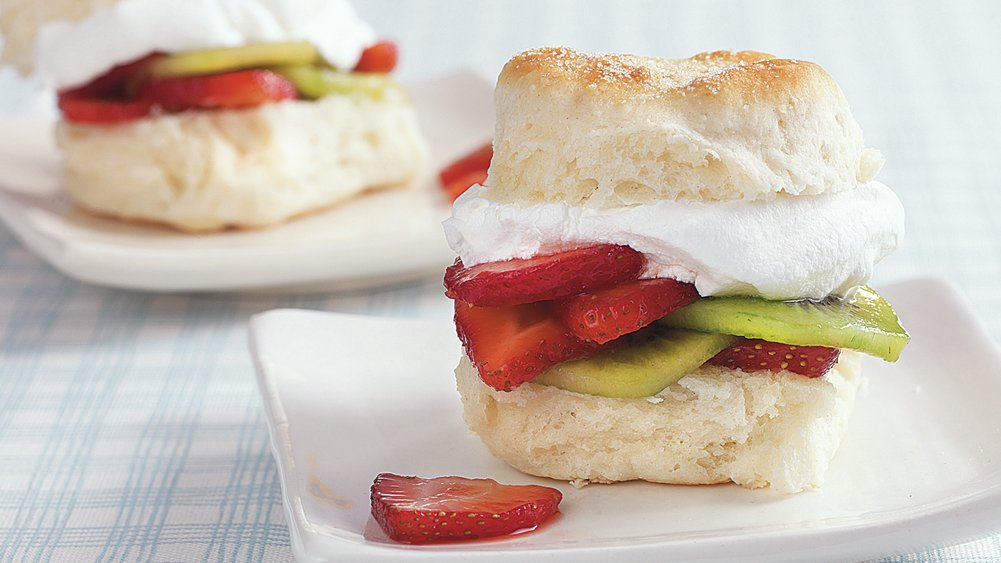 Strawberry Kiwi Shortcakes