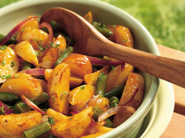 Grilled Potato-Green Bean Salad