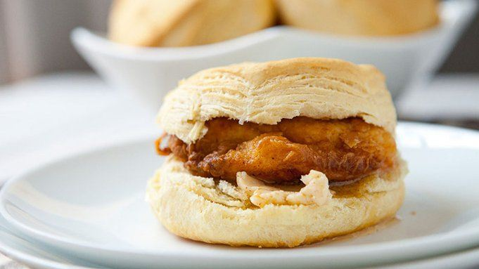 Southern Fried Chicken Biscuit Sandwiches recipe - from ...