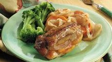 Pork Chops and Sweet Potatoes for Two Recipe