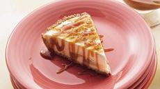 Frosty Apple Cheesecake with Caramel Topping Recipe