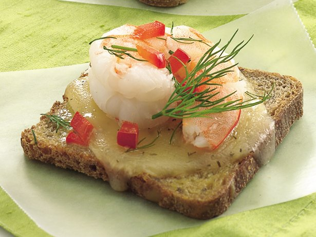 Dill Havarti-Shrimp Appetizers