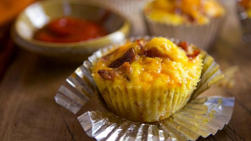 Bacon Breakfast Cupcakes