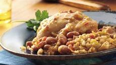 Slow Cooker Chipotle Chicken and Pintos with Spanish Rice Recipe