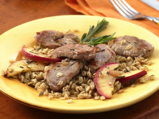 Image of Apple-rosemary Pork And Barley, Betty Crocker