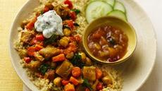 Slow Cooker Vegetable Curry with Couscous Recipe