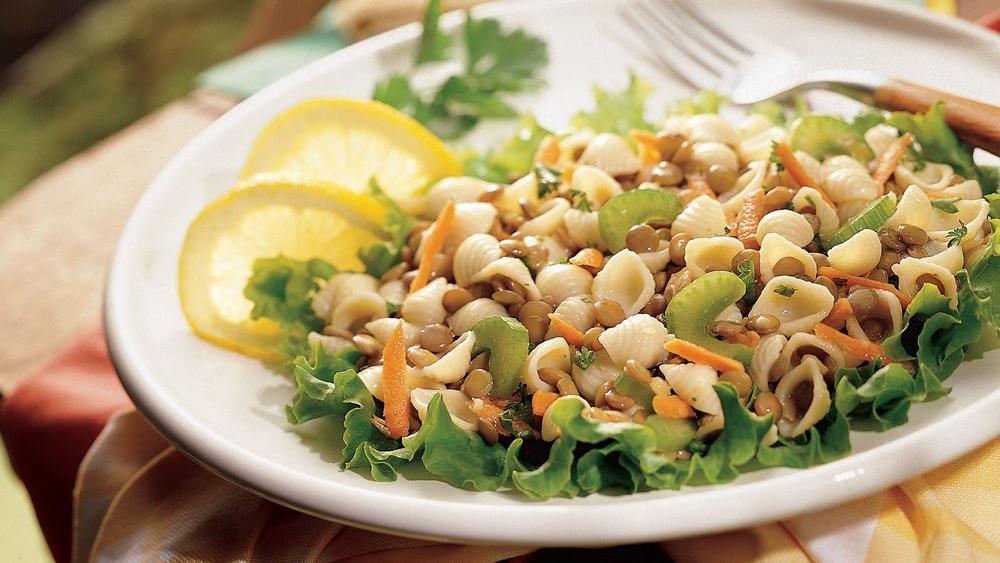 Lemony Lentil and Pasta Salad