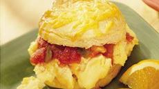 Cheesy Egg Biscuits Recipe