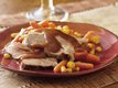 Slow Cooker Glazed Pork Roast with Carrots and Corn