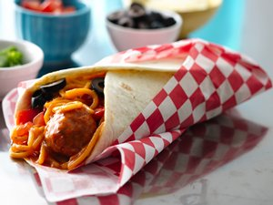 Spaghetti and Meatball Wraps