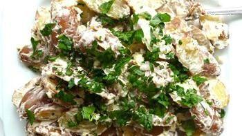 Fingerling Potato Salad with Bacon and Gorgonzola