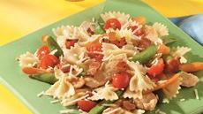 Chicken and Tomato Bow-Tie Stir-Fry Recipe