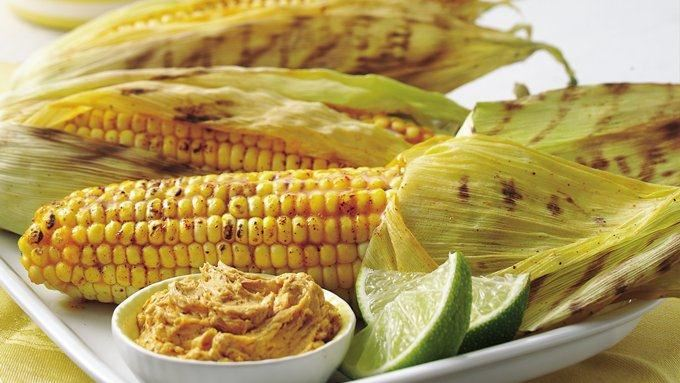 Grilled Corn with Chile-Lime Spread recipe - from Tablespoon!