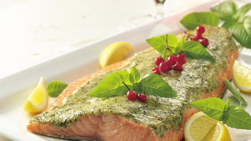 Pesto-Glazed Salmon Fillet