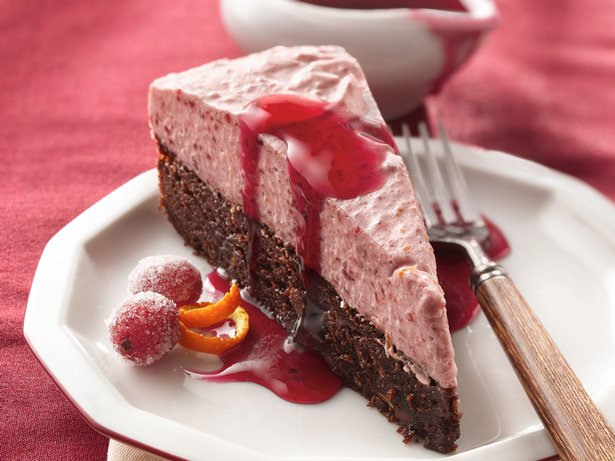Cranberry Mousse Torte