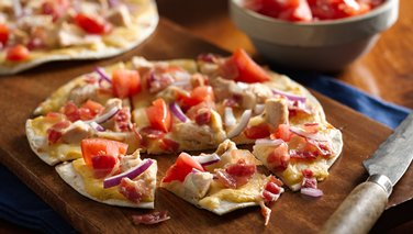 Chicken and Bacon Flatbreads
