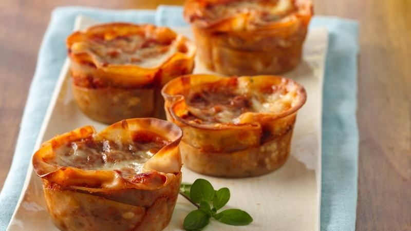 Lasagna Cupcakes recipe from Betty Crocker