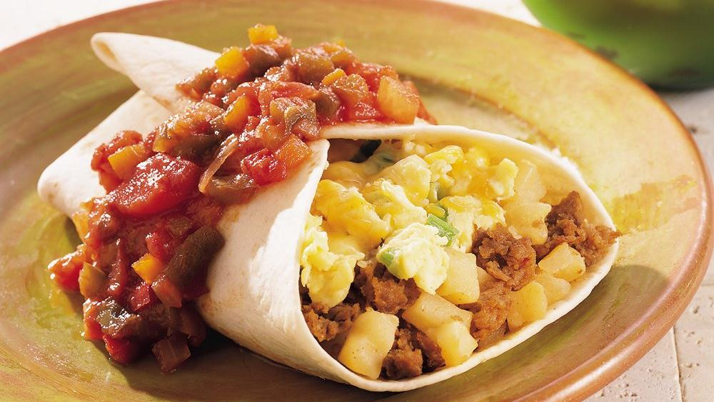 Breakfast Burrito With Chorizo, Potato, And Egg Recipes — Dishmaps