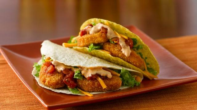 Chicken Nugget Tacos