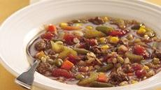 Vegetable, Hamburger and Barley Soup Recipe