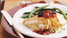 Chicken Breast Bundles with Cranberry Chutney Recipe