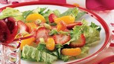 Fruity Green Salad with Strawberry Vinaigrette Recipe
