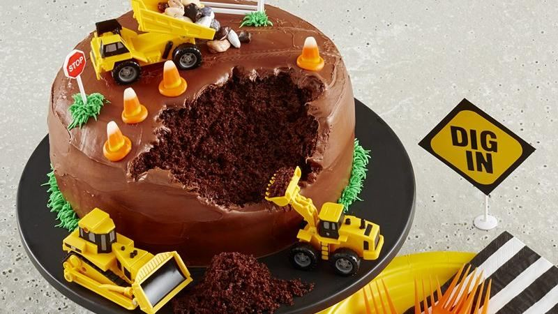 Construction Site Toys For Boys : Construction site cake recipe from betty crocker