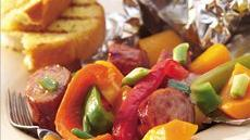 Grilled Maple Sausage and Butternut Squash Packs Recipe