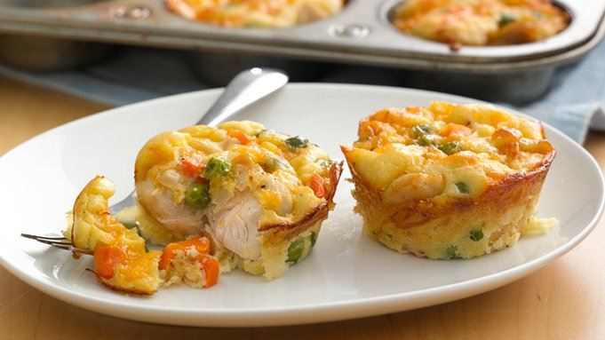 Impossibly Easy Mini Chicken Pot Pies recipe - from Tablespoon!