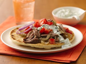 Slow Cooker Shredded Turkey Gyros