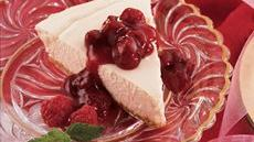 Raspberry-Topped Low-Fat Cheesecake Recipe