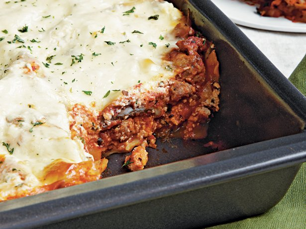 Turkey Sausage and Mushroom Lasagna