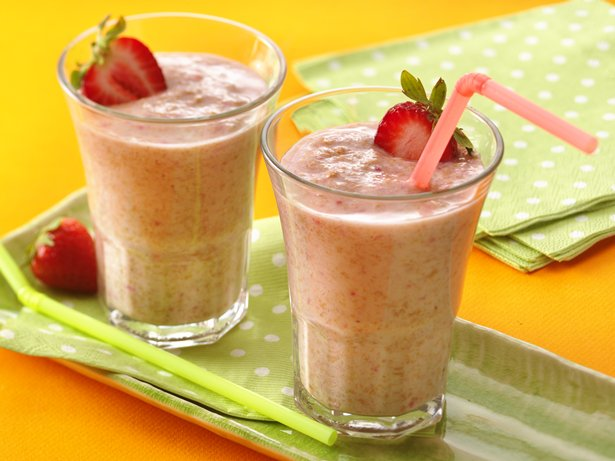 Fiber One Strawberry Smoothies