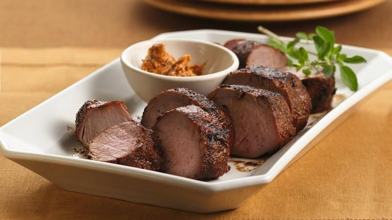 Grilled Chili-Rubbed Pork Tenderloin