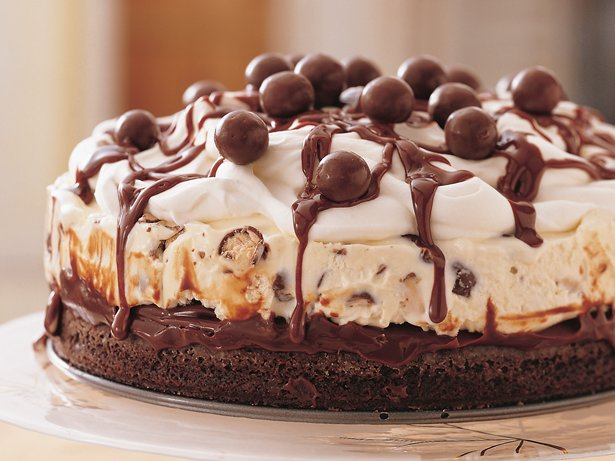 Chocolate Malt Ice-Cream Cake