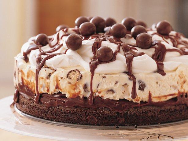 Chocolate Malt Ice-Cream Cake