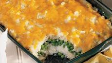 Cheesy Peas and Potato Casserole Recipe
