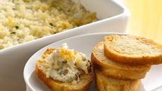 Baked Clam Dip with Crusty French Bread Dippers Recipe