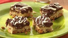 Nutty Chocolate Pretzel Bars Recipe