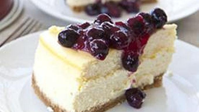 Lemon Cheesecake with Blueberries recipe - from Tablespoon!