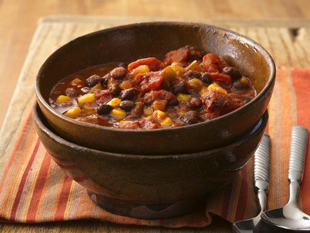 Cumin, chili powder and chiles add the heat to meatless chili ...