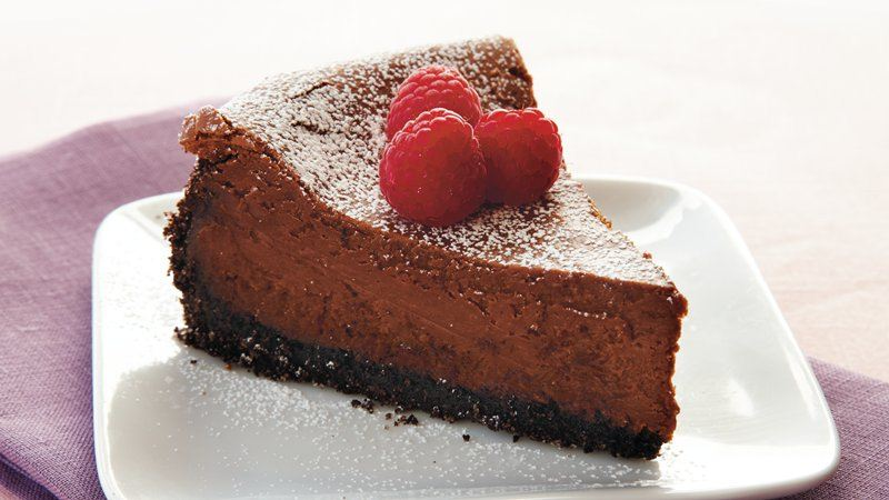 Bittersweet Chocolate Cheesecake recipe from Betty Crocker