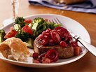 Beef Medallions with Pear-Cranberry Chutney