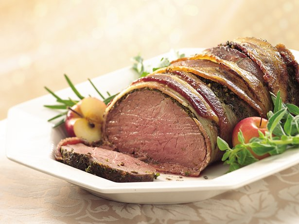 Bacon- and Herb-Crusted Beef Tenderloin recipe from Betty Crocker