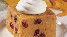 Pumpkin Bread Pudding with Ginger Cream Recipe