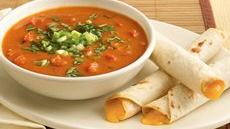 Creamy Bean Soup with Taquito Dippers Recipe